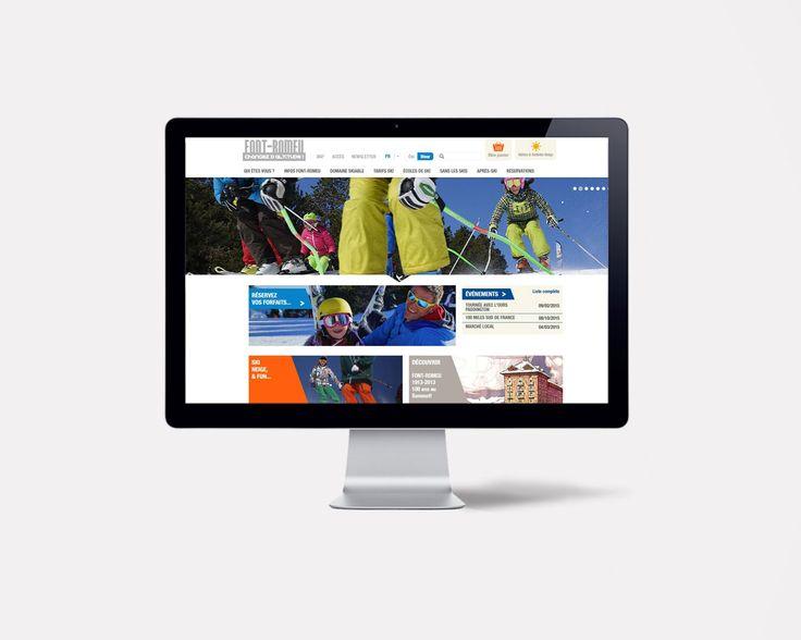 Site internet de l'OT de Font-Romeu par l'agence double-id.com