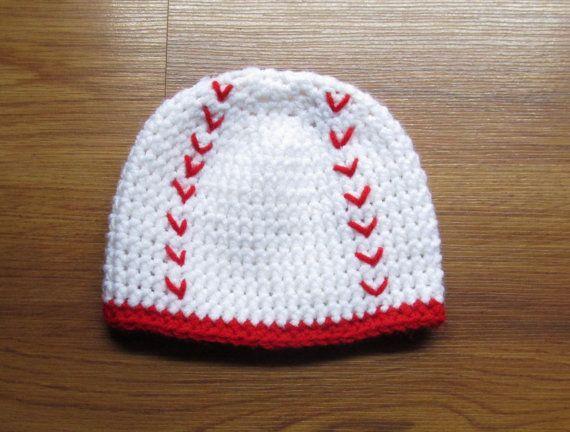 Handmade Crochet Baseball Hat by BeanandBirdHandmade on Etsy