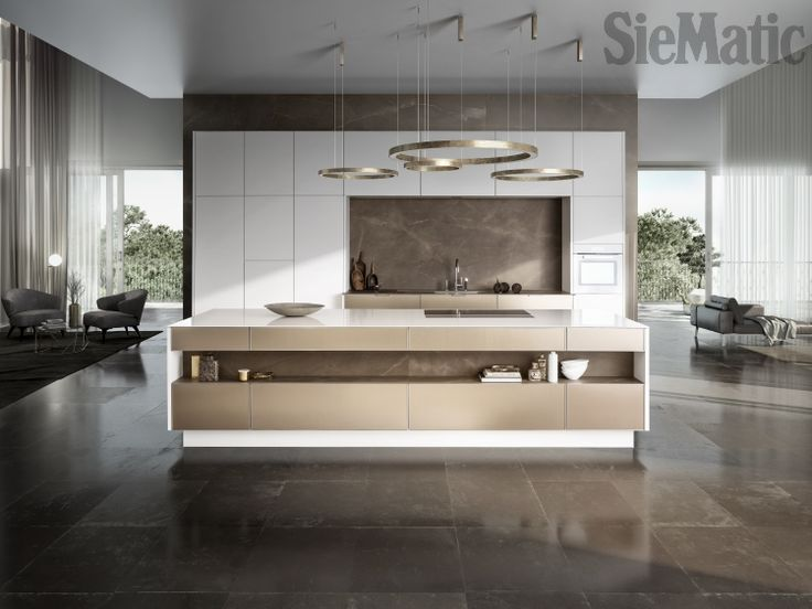 Superb A Spacious, Seemingly Handleless SieMatic SE 3003 R Kitchen. Unique Door  Fronts In. Haus KüchenKüchen IdeenGartenKüchenmöbelSchöne ...