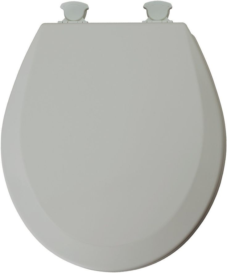 Mayfair 46ECDG-162 Molded Wood Toilet Seat with Lift-Off Hinges, Round, Silver