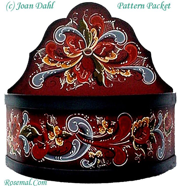Half Bowl> Authentic Rosemaling Pattern fromTelemark. Created by Joan Dahl…