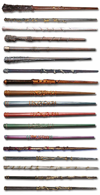 Make your own Harry Potter wands with paper, a glue gun, and some paint... super simple! - Tutorial now costs to buy but lots of images of ones people made for inspiration.