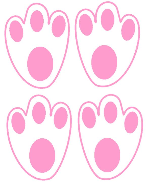 Easter bunny footprints - cut them out for the Easter Bunny, and then he puts them all over the house to lead the kids to their baskets.