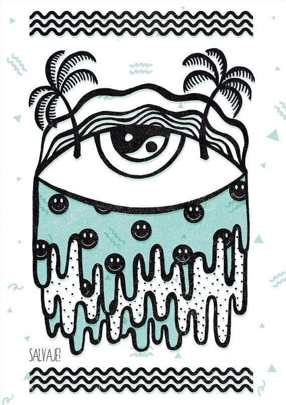 Acid Eye Print
