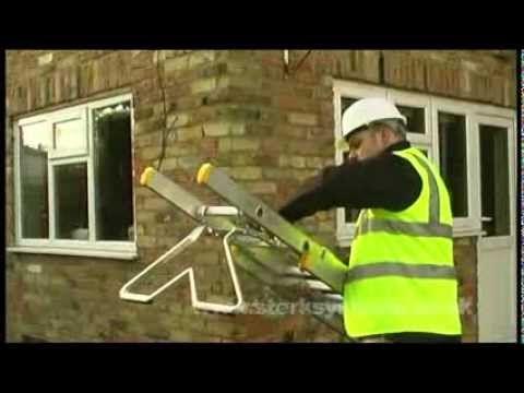 Ladder standoff bracket   ladder corner standoff   Ladder stay demo
