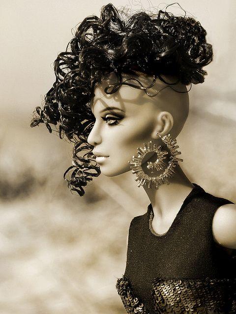barbie.Custom Dolls, Wild Hair, Fashion Art, Beautiful Dolls, Hair Style, Barbie Dolls, Barbie Fashion, Numina Dolls, Art Dolls