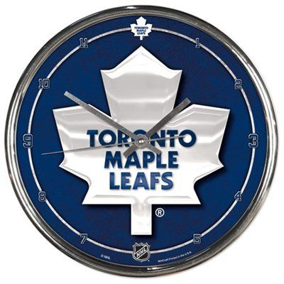 Toronto Maple Leafs 12'' Round Wall Chrome Clock