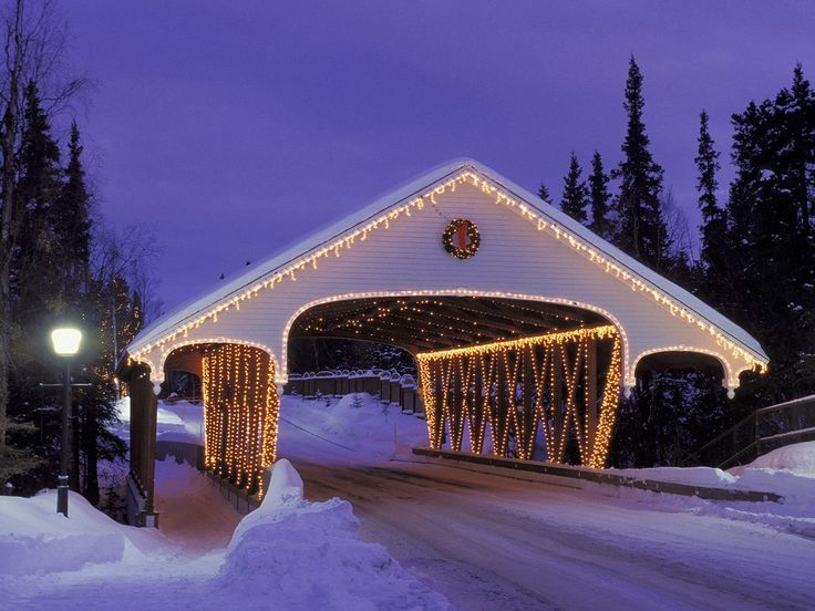 Bing images of snow | Christmas Covered Bridge, Alaska Wallpapers, Pictures, Photos and ...