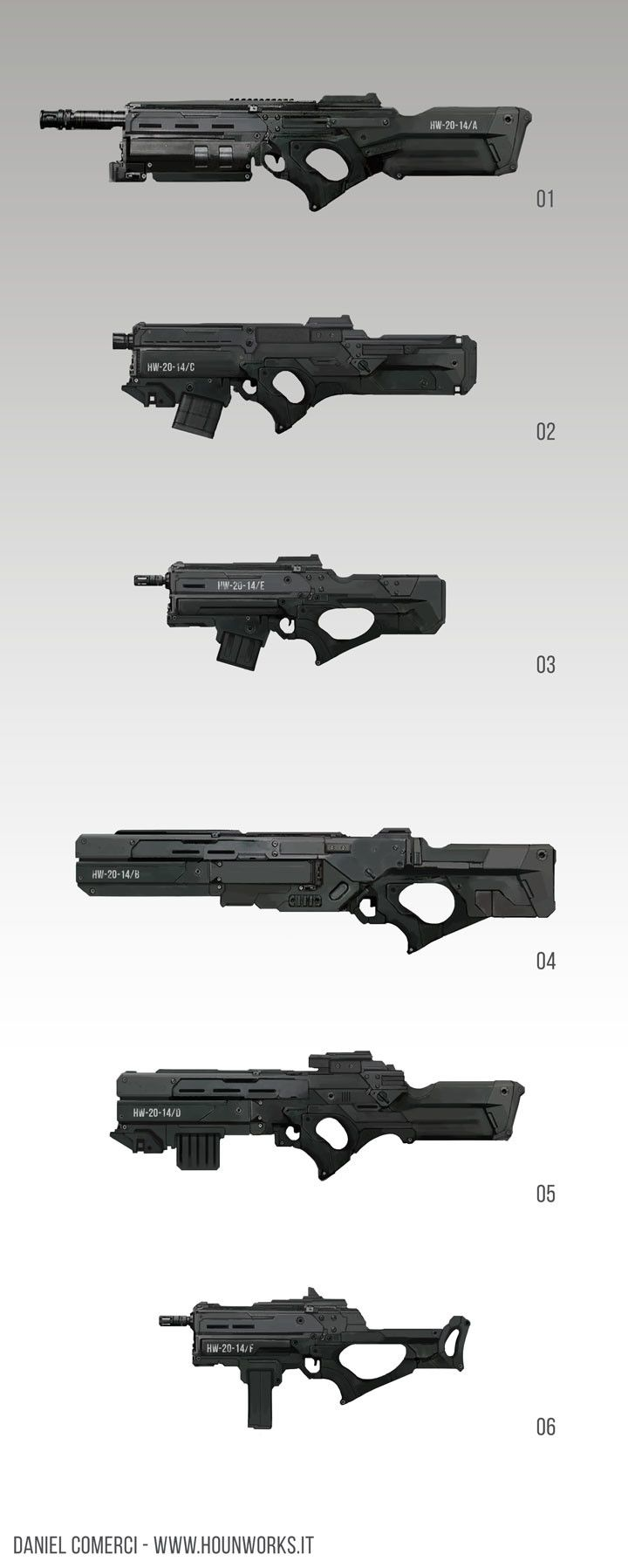 ArtStation - Weapon Props Concepts, Daniel Comerci