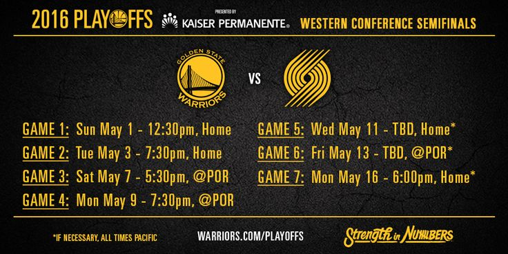Warriors Announce Conference Semifinals TV and Radio Schedule | Golden State Warriors
