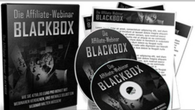 Geld verdienen im Internet mit der Affiliate-Webinar Blackbox