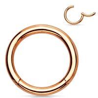 wenkbrauw piercing titanium ring rose kleur