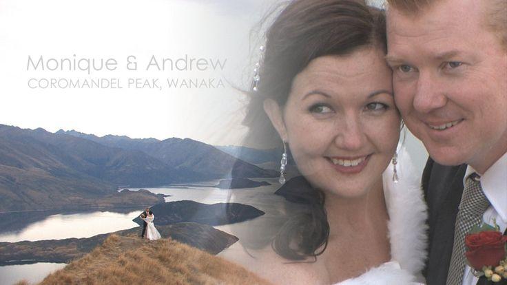 Monique & Andrew's Coromandel Peak Heli Wedding