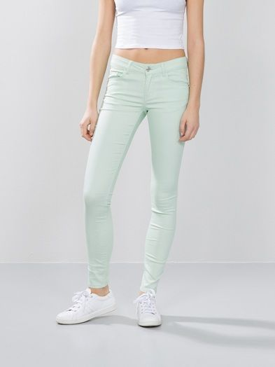 Linda pants | 7149667 | Grønn | BikBok | Norge