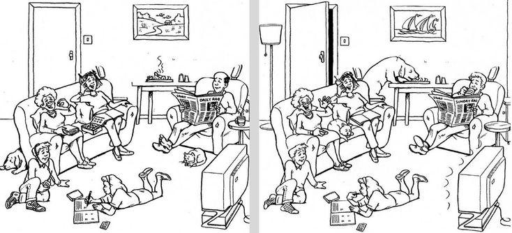 A1 - Encuentra las diferencias que hay entre las 2 imágenes.
