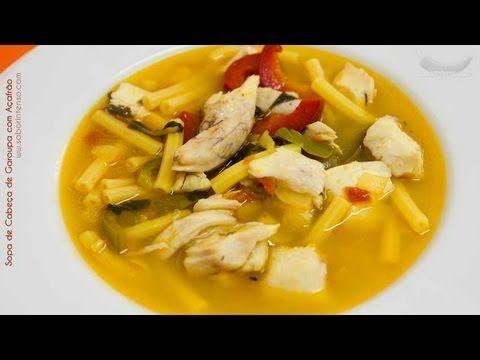 Receita de Sopa de Cabeça de Garoupa com Açafrão