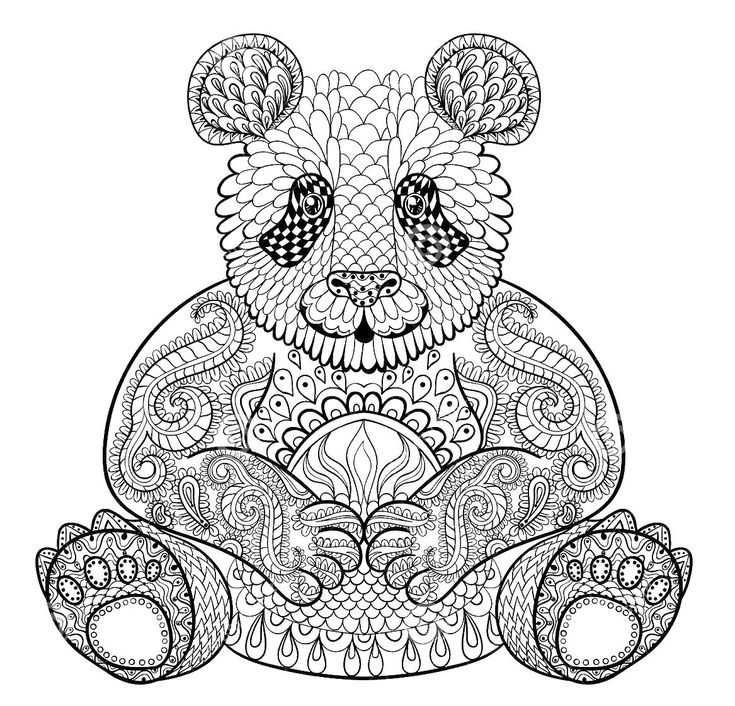 Panda Coloring Pages Best 25 Panda Coloring Pages Ideas On Pinterest  Adult Coloring .
