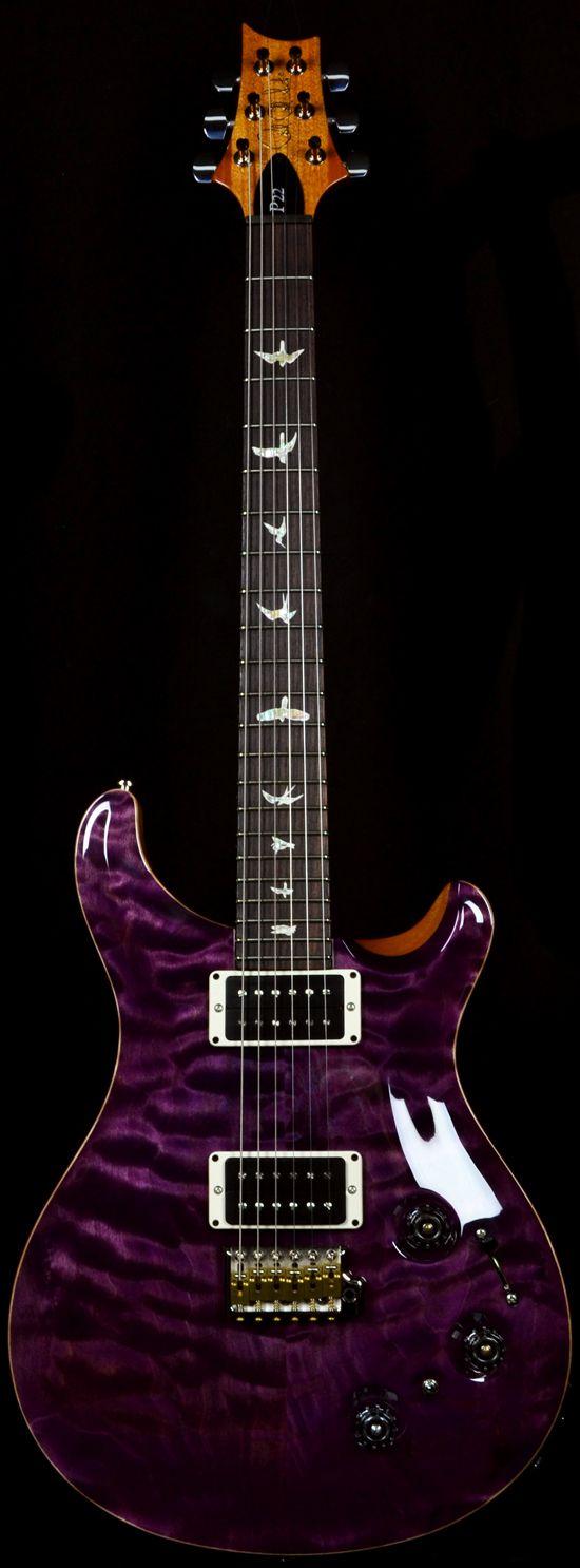 Wild West Guitars : PRS P22 Trem Armando's Amethyst 10 Top. It's a newer shade and very pretty. P22...ugh I love them