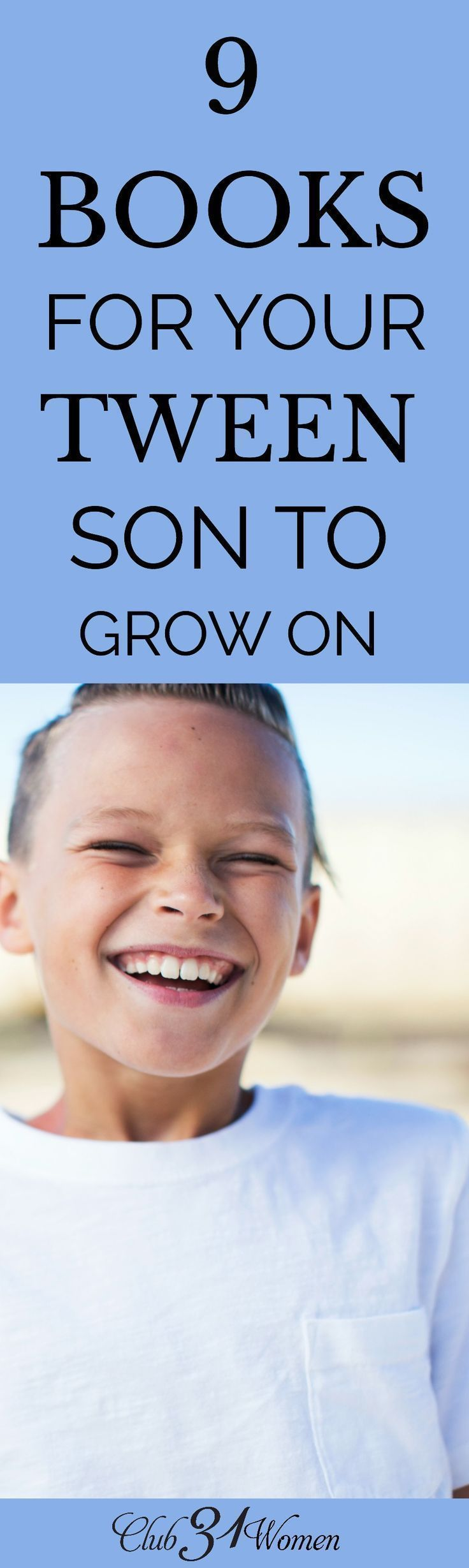 It can be so challenging to find excellent reading material for your tween boy. But here is a fabulous list of extraordinary books to get you started! via
