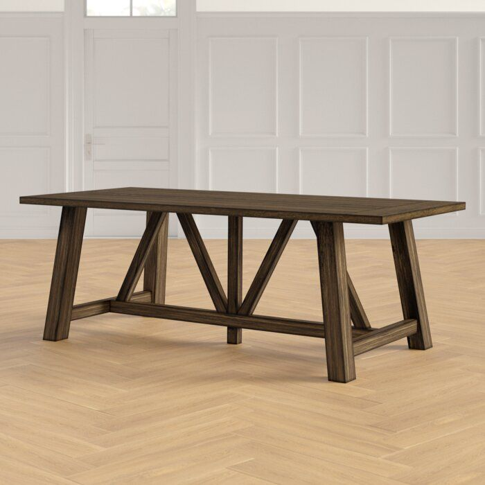 Woodworth Trestle Dining Table Joss Main Dining Table In Kitchen Solid Wood Dining Table Wood Dining Table