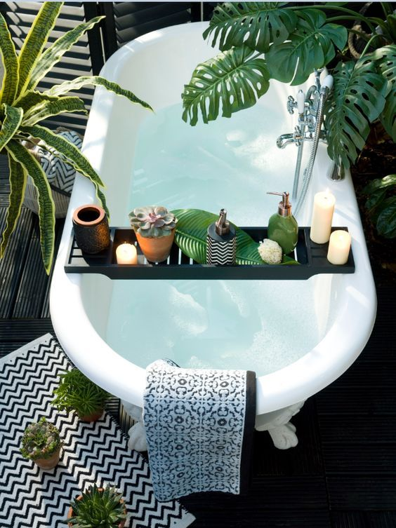 All you need in this Beautiful Bath are Creative Energy Lotion Candles #bath…
