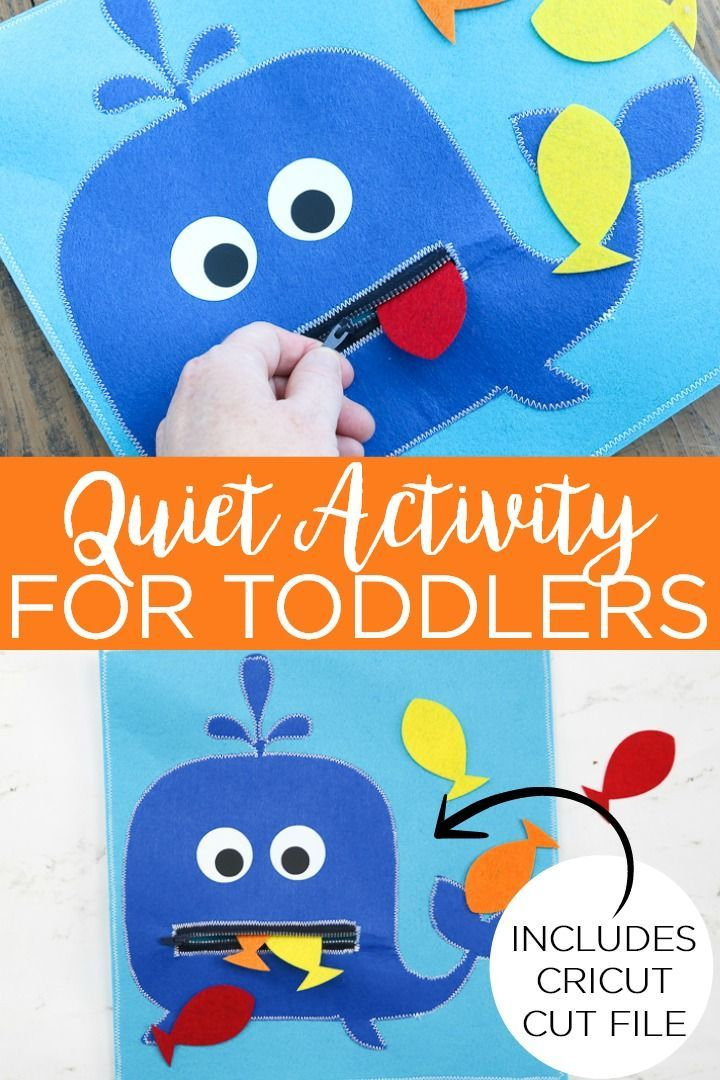 Quiet Activity For Toddlers With Your Cricut In 2020 Quiet Activities Toddler Activities Fun Activities For Kids