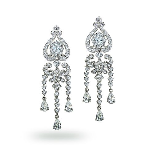 28 best chandelier earrings images on pinterest charm bracelets bling jewelry classic cz gatsby inspired mother and child chandelier earrings mozeypictures Choice Image