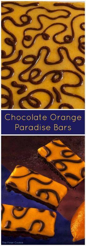 Chocolate orange Paradise bars
