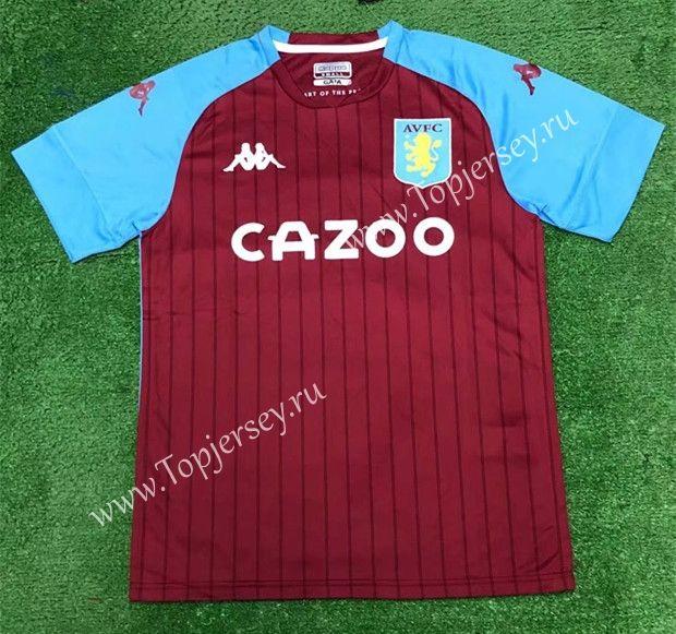 2020-2021 Aston Villa Home Red Thailand Soccer Jersey AAA ...
