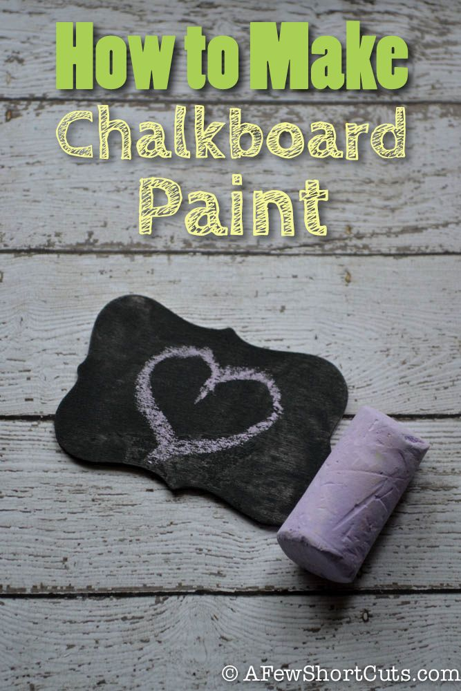 How to Make Chalkboard Paint Looks like a blog I would like when I have time to explore it, too