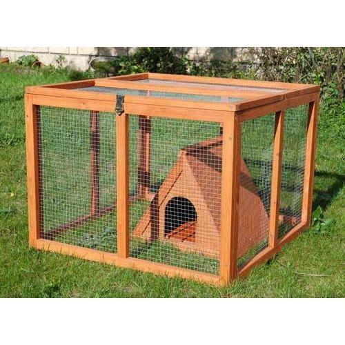 Cage clapier et enclos rongeur enclos tipi pour for Cage lapin exterieur