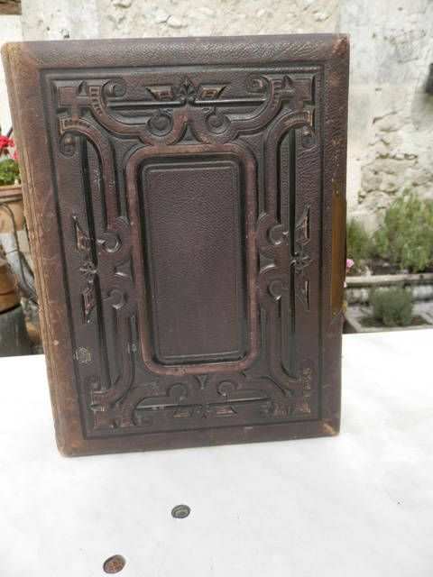 Victorian tooled leather photograph album with brass clasp by UNIKBOUTIQUE on Etsy