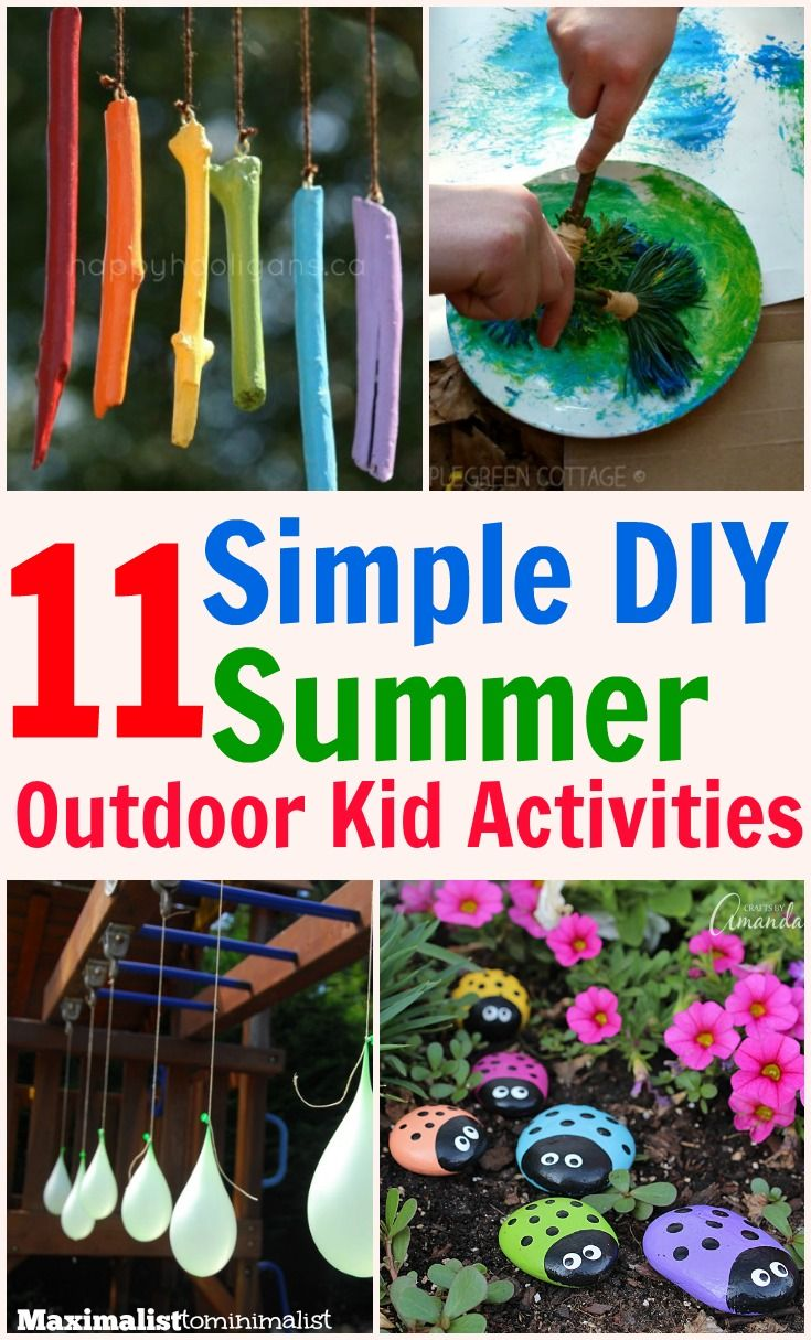 Looking for some fun kids outdoor activities to do this summer? Check out these simple DIY kids; outdoor activities. Easy, little prep, & low cost.