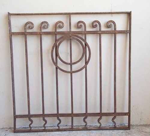 Decorative Antique Hand Forged Wrought Iron Scroll Gate Panel Window Art