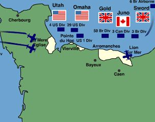 BBC - History - World Wars: Animated Map: The D-Day Landings
