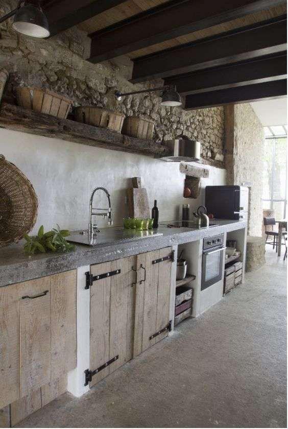 Außenküche Ideen zur Dekoration der Küche im rustikalen Stil ...