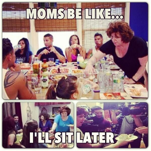 And it was always a struggle getting your mom or nonna to actually join the table and eat.