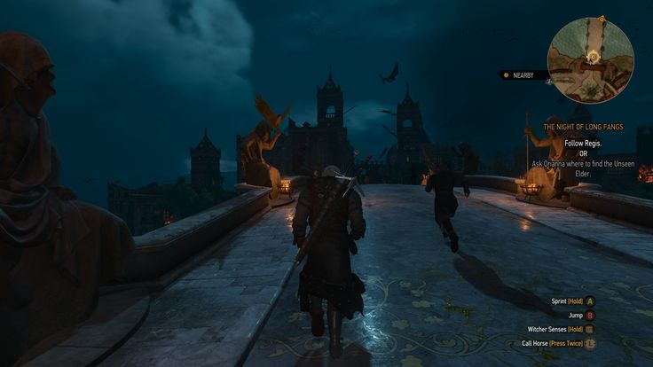 Sculptures at the palace bridge in The Witcher 3: Wild Hunt - Blood and Wine