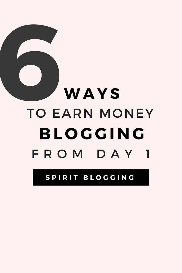 6 Easy Ways To Earn Money Blogging In 2018. – – Entrepreneur + Side Hustle
