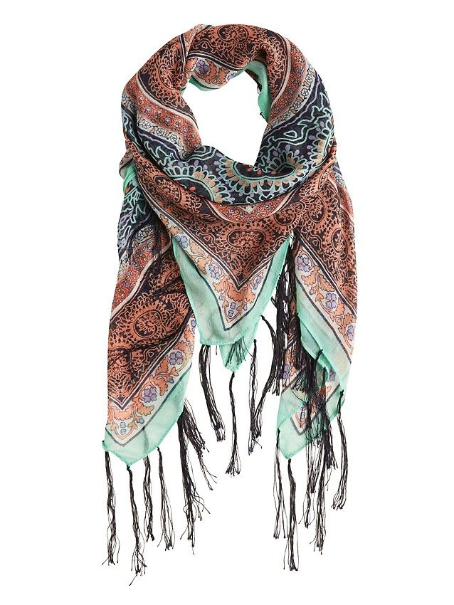 'Lily'+Paisley+Floral+Scarf+-+