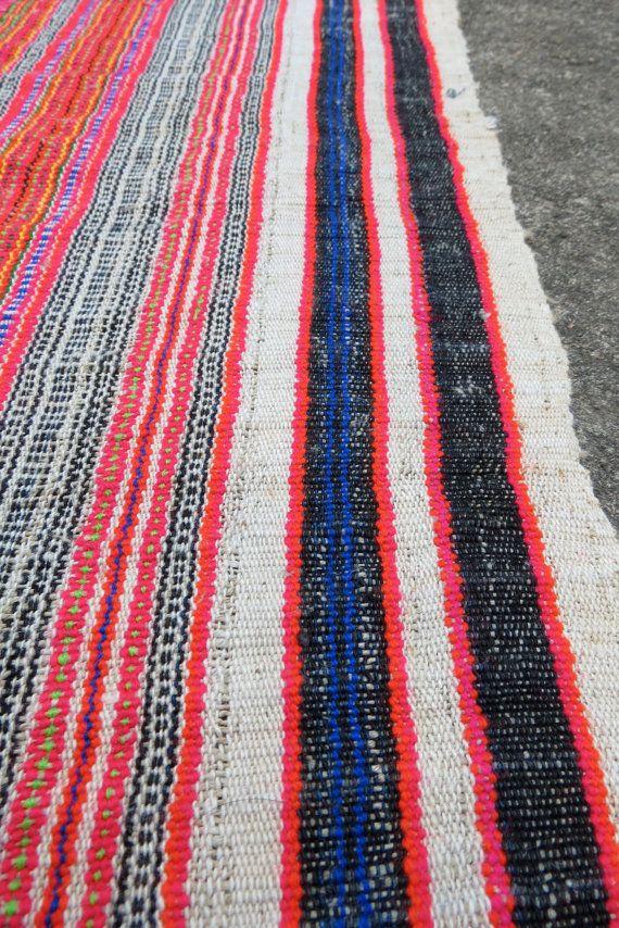 Hmong  hemp Vintage fabrics and  textiles  Handwoven by dellshop, $49.99