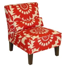 gorgeous orange fabric accent chair