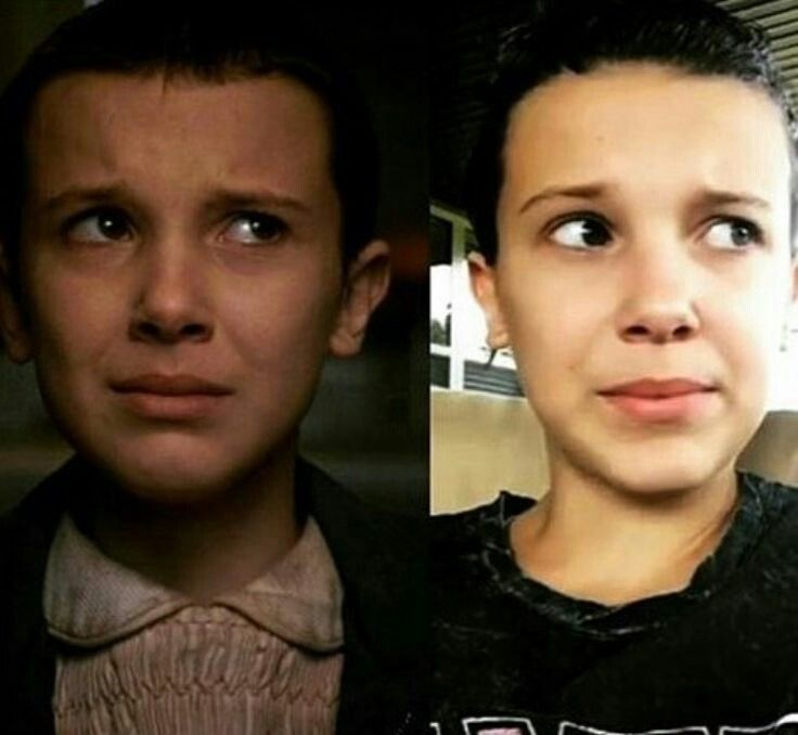 Two People The Same Faces With Images Cast Stranger Things
