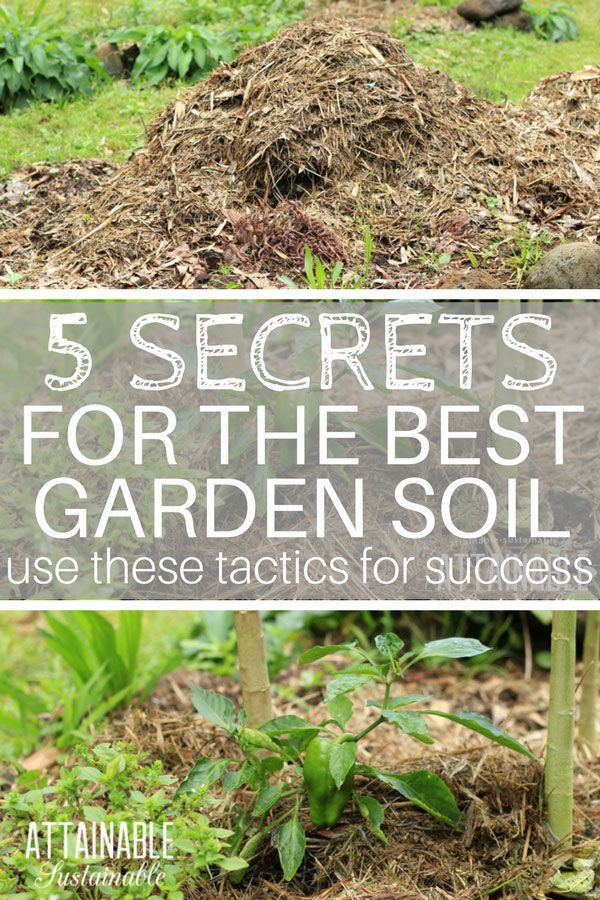 "Gardening methods can vary but one thing that's non-negotiable is that a vegetable garden needs good soil. Mulch is just one ""secret"" ingredient for good growing and a productive harvest from your vegetable garden. Here are 5 tips for building the garden soil at your place.  via @Attainable Sustainable"