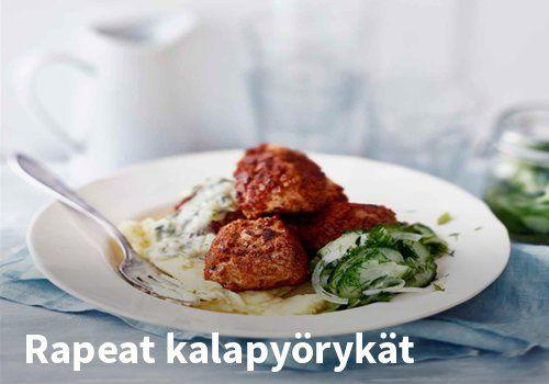 Rapeat kalapyörykät, Reseptit: Valio #kauppahalli24 #resepti #kalapyörykät