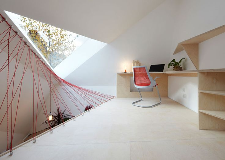 Parachute cables form netted balustrades at this studio
