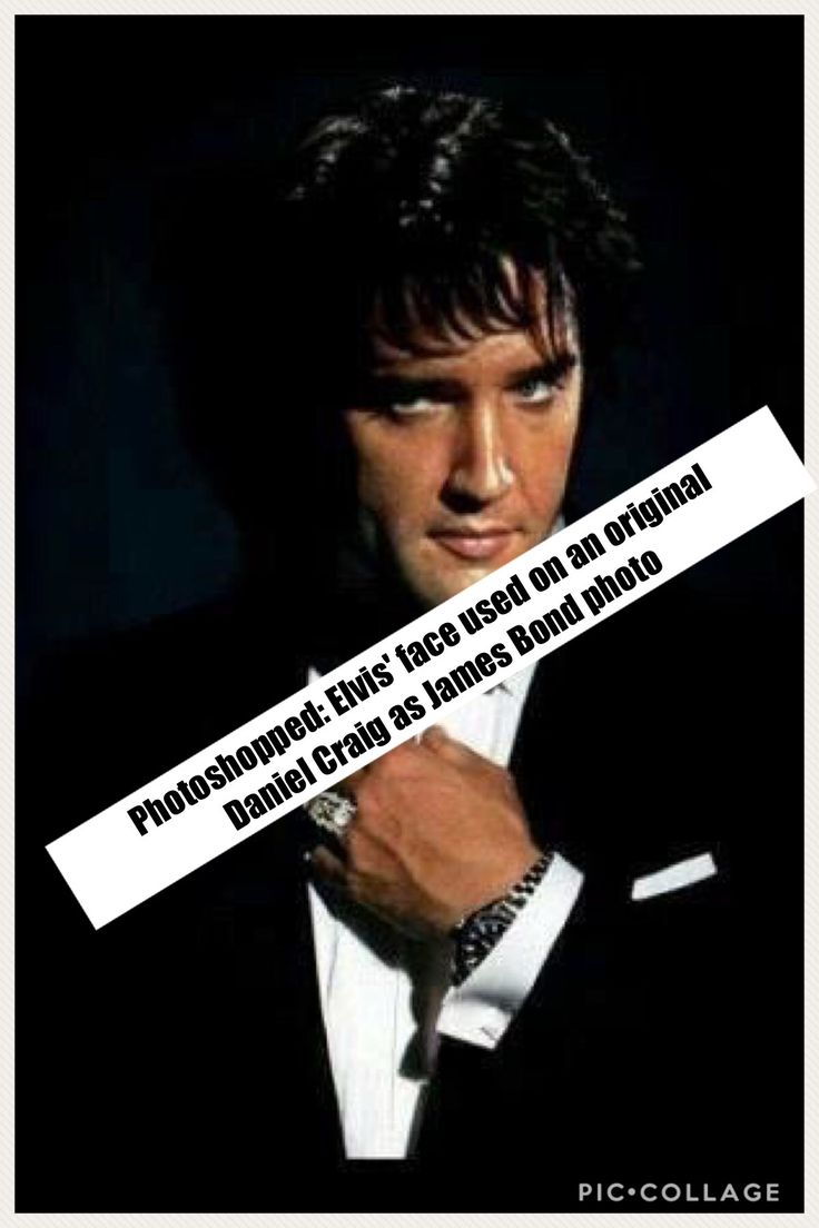 Will this photoshopped image ever quit circulating?  It's Elvis' face, but the rest of the body belongs to Daniel Craig ...