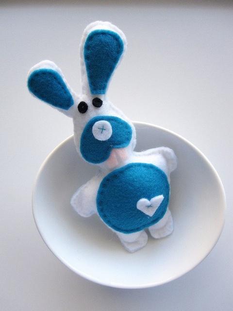 Baby Felt Rabbit - Cute Felt Animals by Mariapalito, via Flickr
