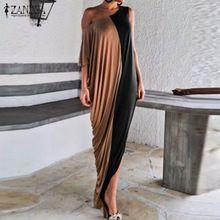 Новый Европейский Мода Свадебные Платья 2016 Лето Женщины Короткая Batwing Одно Плечо Sexy Party Платья Случайные Свободные Длинные Платья Макси(China (Mainland))