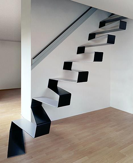 staircase-floating-sleek-simple-modern: Home Interiors, Sheet Metals, Floating Stairs, Stairca Design, Cool Stairs, Floating Stairca, Modern Stairca, Stairs Design, Modern Stairs